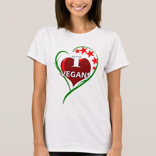 I love vegans tShirt
