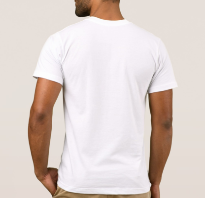American apparel men white t-shirt back