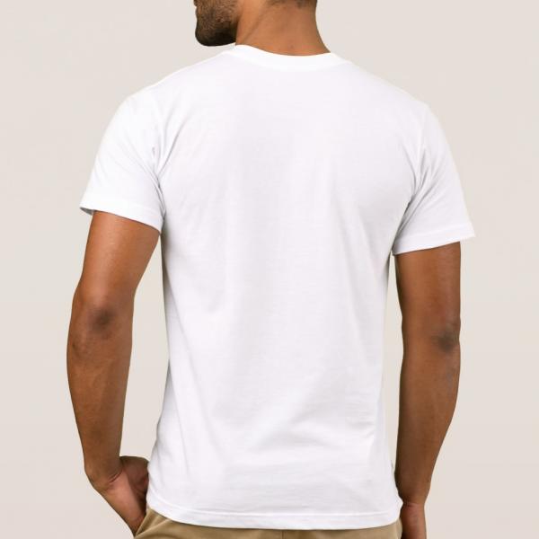 American apparel men white t-shirt back