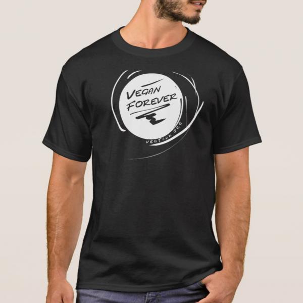 Forever vegan dark t-shirt for men