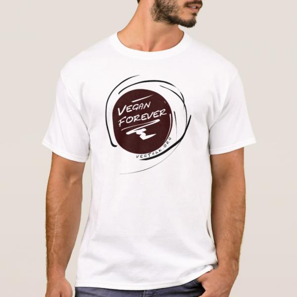 Forever vegan men white t-shirt