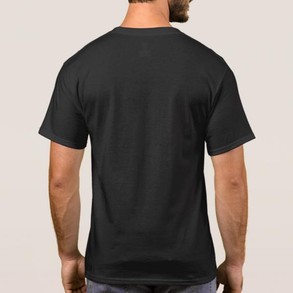 Dark t-shirt for men back