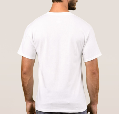 Men white tshirt back