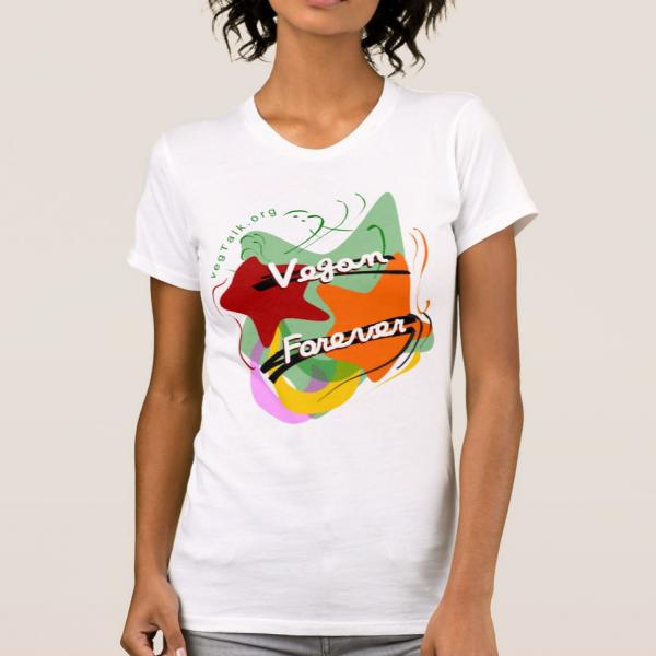 Vegan Forever white women alternative tshirt