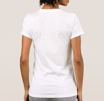 White women alternative tshirt back